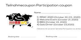 """RRWC 2020: Attending the """"Welcoming Evening"""", 21st of October 2020 // Teilnahme am Begrüßungsabend, 21. Oktober 2020"""
