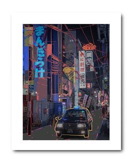 Photo Art Print: Osaka Taxi