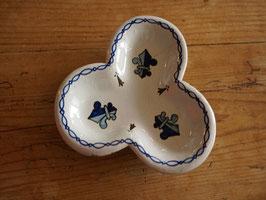 カンペール焼き 三つ葉皿