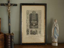 1913年 初聖体記念証明書