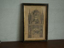 19世紀 初聖体記念フレーム