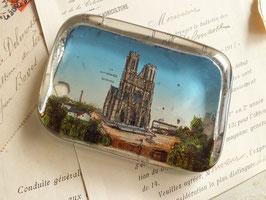 ガラスペーパーウエイト ランス大聖堂