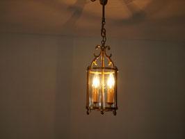 2灯 ガラス円筒ランプ