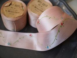アンティークリボンテープ ピンク花