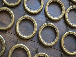 真鍮製 アンティークカーテンリングセット