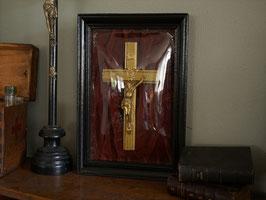 ドームガラス額装十字架