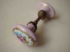 陶製 アンティークドアノブ 花