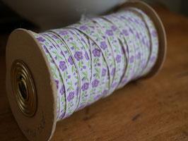 刺繍リボンテープ 紫花