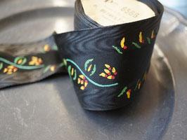 アンティークリボンテープ 黒花