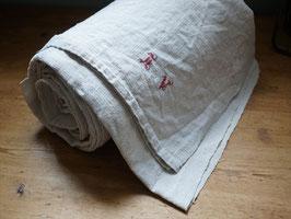 19世紀 手織りリネンシーツ