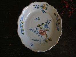 18世紀 エナメル絵付け皿