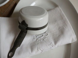 アンティーク 白磁の片手鍋