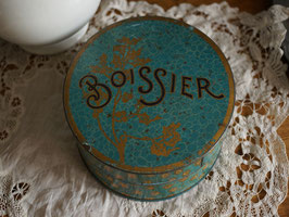 Boissier ボアシエ 丸型缶 リトグラフ