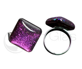 "Glasring • Serie ""Acero"" magic purple"