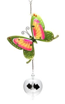 Lichtmühle • Radiometer 80mm mit Fensterbild Schmetterling grün