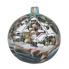 Fensterkugel 120mm Weihnachtskugel handbemalt HAUS AM SEE