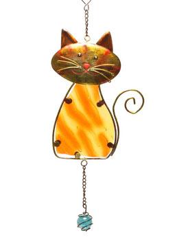 Fensterbild • Wandbild Katze rotbraun