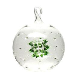 Spinnenkugel • Glaskugel klar/grün