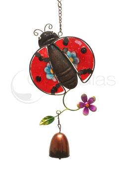 Fensterbild • Wandbild Käfer rot-blau