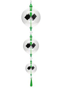 Lichtmühlen-Set 4-teilig mit grüner Einschmelzung