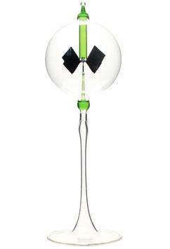 Lichtmühle | Radiometer stehend mit grüner Einschmelzung