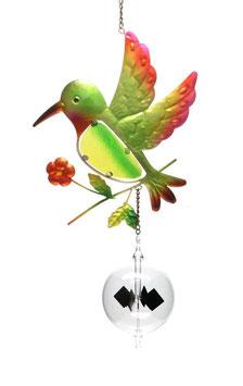 Lichtmühle • Radiometer 80mm mit Fensterbild Vogel grün