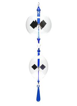 Lichtmühlen-Set 3-teilig mit blauer Einschmelzung