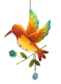 Fensterbild • Wandbild Vogel braun