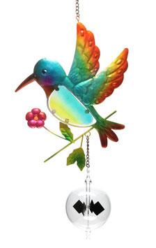 Lichtmühle • Radiometer 80mm mit Fensterbild Vogel blau