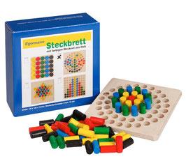 Steckspiel Steckbrett Holzsteckspiel KREIS 12 x 12
