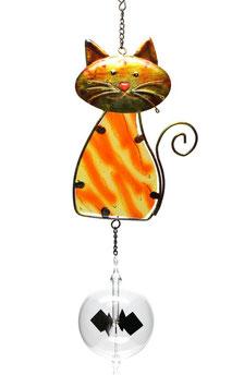 Lichtmühle • Radiometer 80mm mit Fensterbild Katze rotbraun