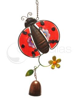Fensterbild • Wandbild Käfer rot-lila