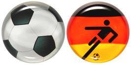 """Glasmagneten • Kühlschrankmagneten Set """"Fußball"""""""