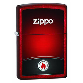Feuerzeug RED AND BLACK ZIPPO DESIGN