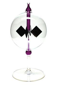 Lichtmühle | Radiometer stehend mit lila Einschmelzung