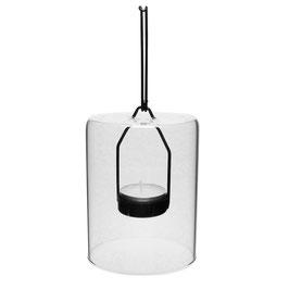 Windlicht aus Glas Teelicht Kerzenhalter hängend