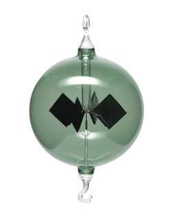 Lichtmühle | Radiometer hängend grün