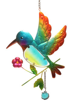 Fensterbild • Wandbild Vogel blau