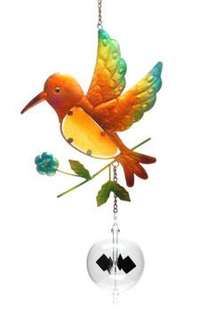 Lichtmühle • Radiometer 80mm mit Fensterbild Vogel braun