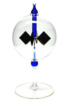 Lichtmühle | Radiometer stehend mit blauer Einschmelzung