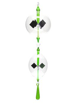 Lichtmühlen-Set 3-teilig mit grüner Einschmelzung