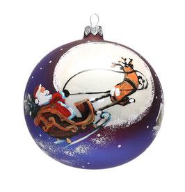 Fensterkugel 120mm Weihnachtskugel handbemalt SANTA CLAUS