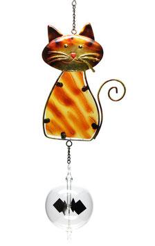 Lichtmühle • Radiometer 80mm mit Fensterbild Katze braun