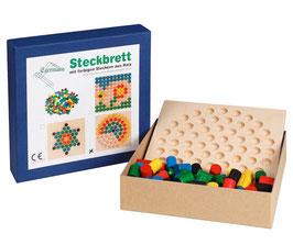 Steckspiel Steckbrett Holzsteckspiel KREIS 24 x 24