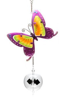 Lichtmühle • Radiometer 80mm mit Fensterbild Schmetterling lila