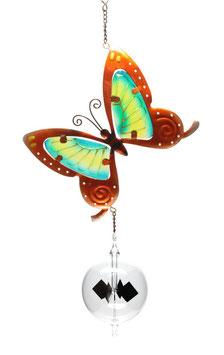 Lichtmühle • Radiometer 80mm mit Fensterbild Schmetterling braun