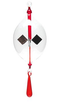 Lichtmühle | Radiometer Olive mit Tropfen klar/rot