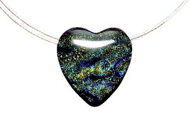 "Glaskette • Serie ""Acero"" ocean blue"