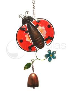 Fensterbild • Wandbild Käfer rot-rosa