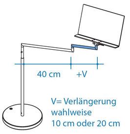 Horizontalverlängerung 10 cm, Art. Nr. 10061
